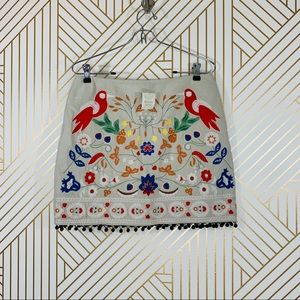 NWT Altar'd State Embroidered Linen Mini
